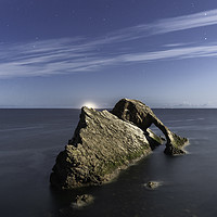 Buy canvas prints of BOW FIDDLE ROCK  SCOTLAND  - MOONLIGHT by Paul Appleby