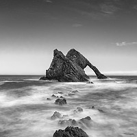 Buy canvas prints of BOW FIDDLE ROCK  SCOTLAND MONO by Paul Appleby