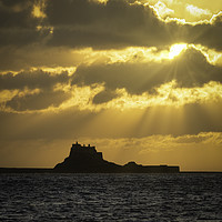 Buy canvas prints of Rays of Hope Over Lindisfarne by Paul Appleby