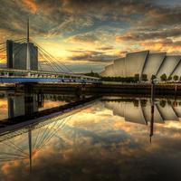 Buy canvas prints of Glasgow At Night by Karen Crawford