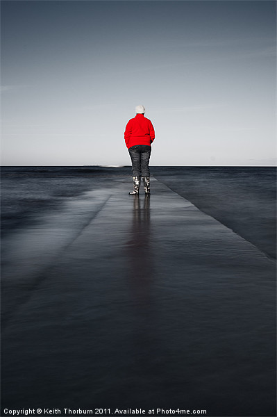 Long Walk to Nowhere Canvas print by Keith Thorburn