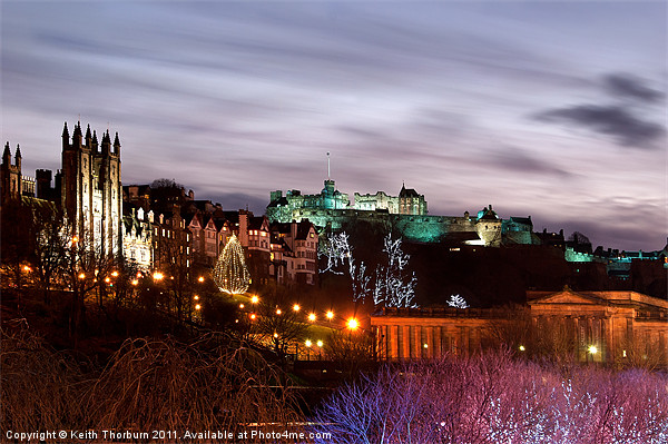 Edinburgh Xmas Festival Canvas print by Keith Thorburn