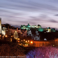 Buy canvas prints of Edinburgh Xmas Festival by Keith Thorburn