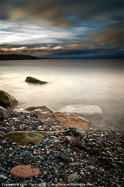 Pebbles to the Forth Canvas print by Keith Thorburn