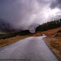 Buy canvas prints of Road to Loch Etive by Keith Thorburn