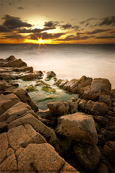 Rocky Sunset Canvas print by Keith Thorburn