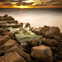 Buy canvas prints of Rocky Sunset by Keith Thorburn