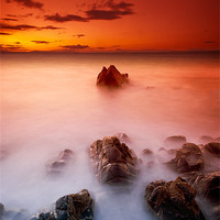 Buy canvas prints of Sunset Sea by Keith Thorburn