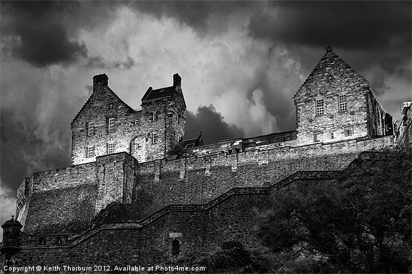 Edinburgh Castle Canvas Print by Keith Thorburn