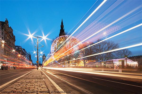 Edinburgh Festive Lights Framed Print by Keith Thorburn