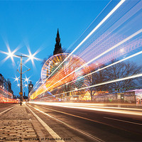 Buy canvas prints of Edinburgh Festive Lights by Keith Thorburn