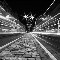 Buy canvas prints of Princes Street Lights by Keith Thorburn