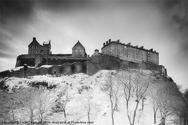 Edinburgh Castle Canvas Print by Keith Thorburn