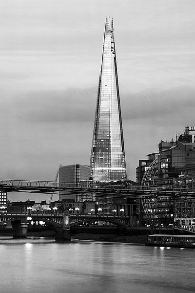 The Shard Canvas print by Keith Thorburn