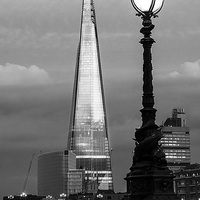 Buy canvas prints of The Shard by Keith Thorburn