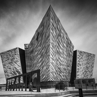 Buy canvas prints of Titanic Tourist Centre Belfast by Keith Thorburn