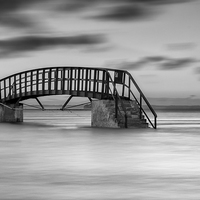 Buy canvas prints of Dunbar Sea Bridge.tif by Keith Thorburn
