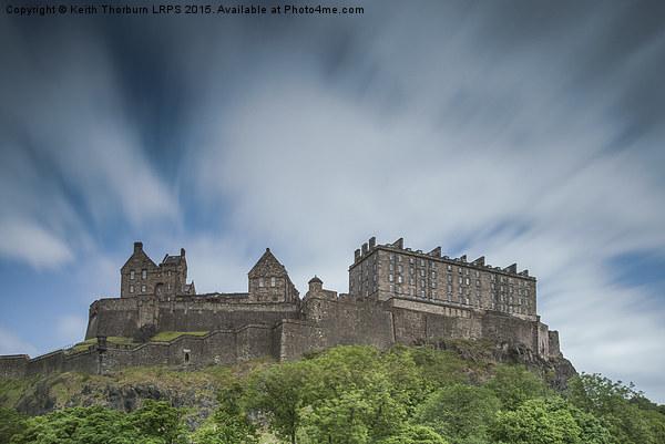 Edinburgh Castle Canvas Print by Keith Thorburn LRPS