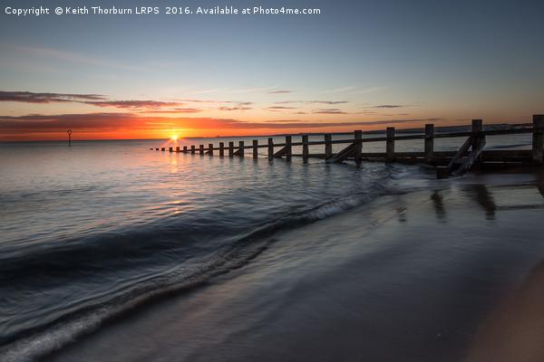 Portobello Beach Sunrise Canvas Print by Keith Thorburn LRPS