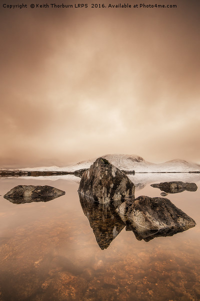 Rannoch Moor  Canvas Print by Keith Thorburn LRPS