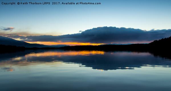 Loch Garten Sunset Canvas print by Keith Thorburn LRPS
