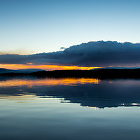 Buy canvas prints of Loch Garten Sunset by Keith Thorburn LRPS