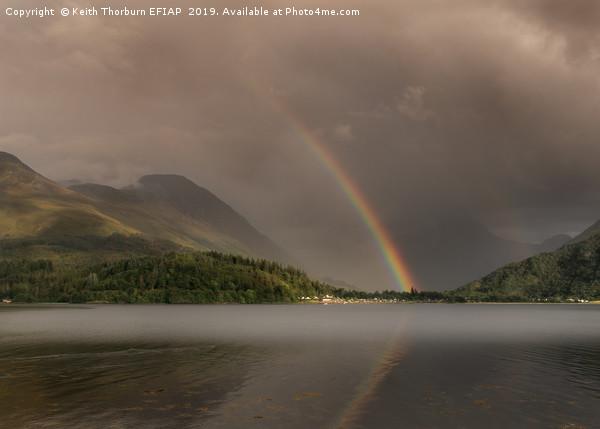 Rainbows over Glencoe Canvas print by Keith Thorburn EFIAP