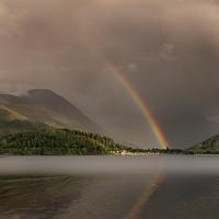 Buy canvas prints of Rainbows over Glencoe by Keith Thorburn EFIAP