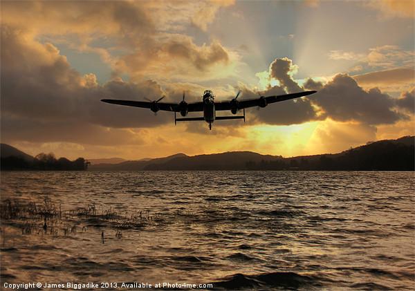 Lancaster and the Lake Canvas print by J Biggadike