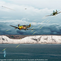 Buy canvas prints of The Battle of Britain by J Biggadike