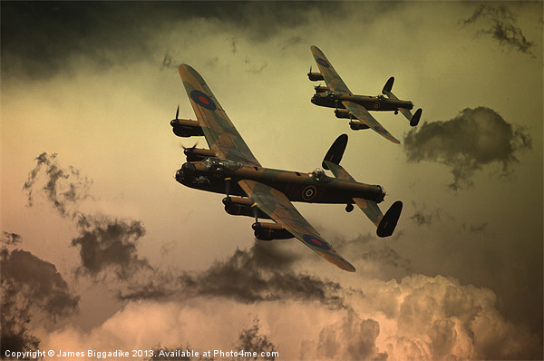 Lancaster Fire In The Sky Canvas print by J Biggadike