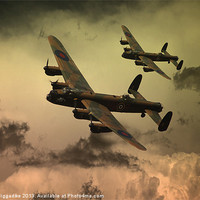 Buy canvas prints of Lancaster Fire In The Sky by J Biggadike