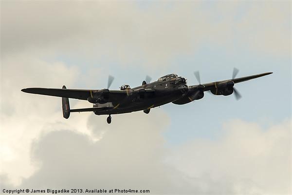 Lancaster Bomber Canvas print by J Biggadike