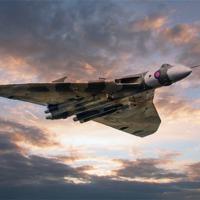 Buy canvas prints of Vulcan Bomber by J Biggadike