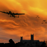 Buy canvas prints of Lancaster Lincoln Sunset by J Biggadike