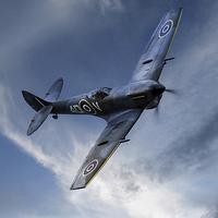 Buy canvas prints of Spitfire Pass by J Biggadike