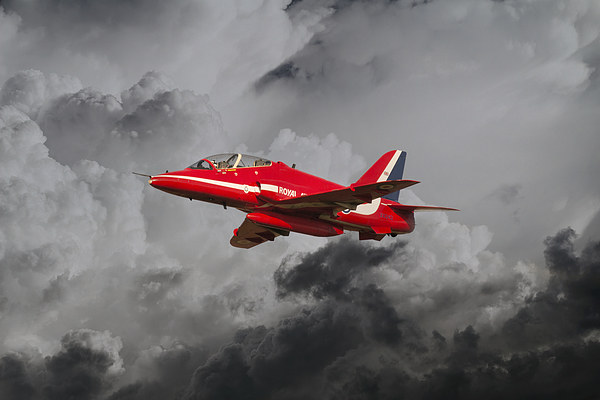 Red Arrows Hawk Canvas Print by J Biggadike