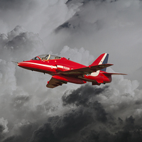 Buy canvas prints of Red Arrows Hawk by J Biggadike