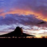 Buy canvas prints of Vulcan Dispersal by J Biggadike