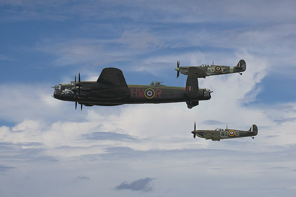 The Battle of Britain Memorial Flight Canvas print by J Biggadike