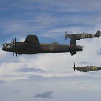 Buy canvas prints of The Battle of Britain Memorial Flight by J Biggadike