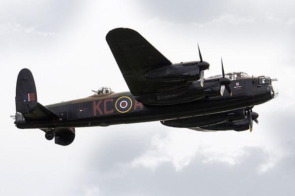 BBMF Lancaster Bomber Canvas print by J Biggadike