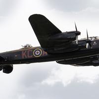 Buy canvas prints of BBMF Lancaster Bomber by J Biggadike