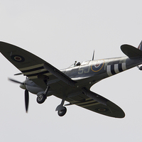 Buy canvas prints of Spitfire  by J Biggadike