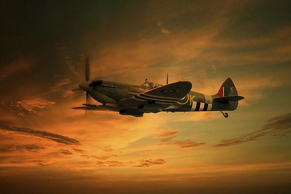 Spitfire Glory Canvas print by J Biggadike