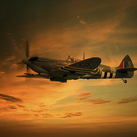 Buy canvas prints of  Spitfire Glory by J Biggadike