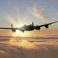 Buy canvas prints of Avro Lancaster Bomber  by J Biggadike