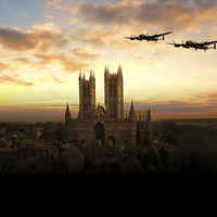 Buy canvas prints of Lancs over Lincoln  by J Biggadike