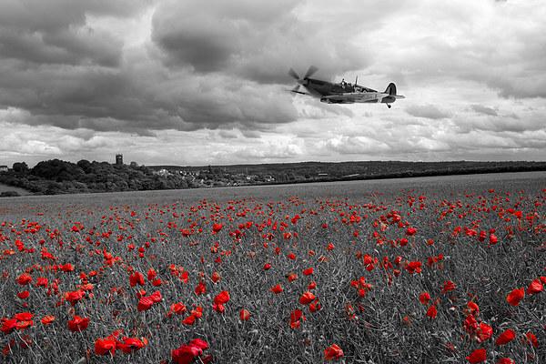 Spitfire Red  Canvas print by J Biggadike