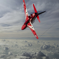 Buy canvas prints of The Red Arrow  by J Biggadike